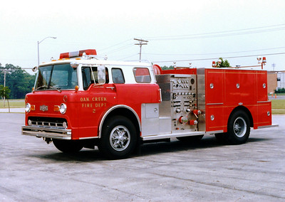 OAK CREEK FD   ENG.2	 1982 FORD C-8000/PIRSCH	 1000/750 PQ-07					 SOLD TO FIRE RIDES INC. IN NY STATE	   SOLD TO Fire Rides Incorporated,NY