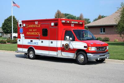 JANESVILLE  MEDIC 92  FORD E450 - MEDTEC