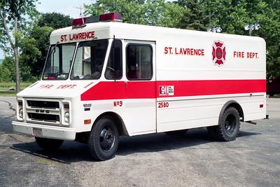 ST LAWRENCE FD  SQUAD 2580  1974  GMC STEPVAN