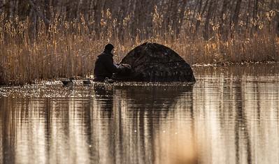 Ryan Marshik floating blind Tobin-Kimmes Gordon Macquarrie Wetlands Douglas County WI IMGC6258