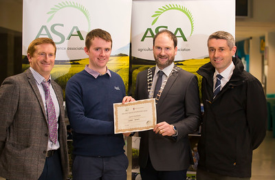 Pictured at the Waterford Institute of Technology- ASA (Agricultural Science Association) Student Mock Interviews. Pictured are Pat Ryan, Glanbia, Shane Kenny, student, Derrie Dillon, President of ASA association, Pat Morrison, Department of Agriculture, Food and Marine. Picture: Patrick Browne