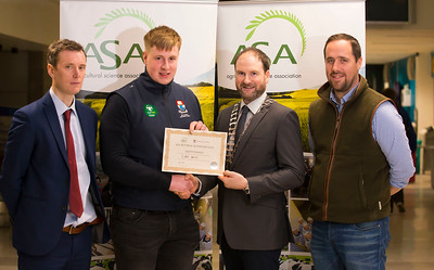 Pictured at the Waterford Institute of Technology- ASA (Agricultural Science Association) Student Mock Interviews. Pictured are Bryan Doocey, AIB, Liam Smith, student, Derrie Dillon, President of ASA association,Julian Hughes, Hughes Farming. Picture: Patrick Browne
