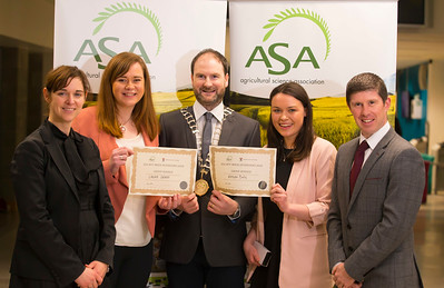 Pictured at the Waterford Institute of Technology- ASA (Agricultural Science Association) Student Mock Interviews. Pictured are Amii McKeever, Glanbia, ASA VP, Laura Grant, student, Derrie Dillon, President of ASA association, Alison Daly, student, Stephen Trant, Ulster Bank. Picture: Patrick Browne