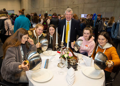 "22/11/2019. FREE TO USE IMAGE. Pictured at Waterford Institute of Technology (WIT) Open Day. Pictured are Amy Laherty, Olivia O'Keeffe, Aisling O'Mahony, Ella Moore and Jessica Catt from Ballyhale with Ray  Cullen,  Head of Dept Languages Tourism Hospitality. Picture: Patrick Browne  Two open days taking place this week for school leavers and adult learners at WIT Arena  Families of south east Leaving Cert students wishing to get as much course and college-related research done as early as possible in sixth year can do so by attending the Waterford Institute of Technology (WIT) Saturday Open Day, 9am-2pm on 23 November 2019. The traditional schools' open day will run as usual on Friday, 22 November with a focus on information for secondary school students, students in further education colleges, and other CAO applicants, including mature students.  The Saturday Open Day – isn't just about courses for school leavers – it will have information available on the courses available across WIT's schools of Lifelong Learning, Humanities, Engineering, Science & Computing, Health Sciences, Business.  Adults interested in upskilling, or re-skilling can find out about Springboard courses, traditional evening courses as well as part-time and postgrad courses which are offered. WIT also runs specialist programmes for education, science, engineering and other professionals. The number of students studying WIT's part-time and online courses increased to 1650 in 2018, a 28% increase on 2017.  WIT Registrar Dr Derek O'Byrne says: ""A trend we are seeing at WIT Open Days is that students who may have enjoyed the Schools Open day with their friends and school groups, will return the following day with their parents or guardians.""  Students whose schools are attending are encouraged to join their school group on the Friday. As school students are fully catered for at the Schools' Open Day on Friday, there will not be the same breadth of school leaver focused talks"