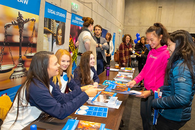 "22/11/2019. FREE TO USE IMAGE. Pictured at Waterford Institute of Technology (WIT) Open Day. Pictured are Min Allen and Caoimhe Daly from Our lady of Lourdes, New Ross with WIT Student Ambassadors. Picture: Patrick Browne  Two open days taking place this week for school leavers and adult learners at WIT Arena  Families of south east Leaving Cert students wishing to get as much course and college-related research done as early as possible in sixth year can do so by attending the Waterford Institute of Technology (WIT) Saturday Open Day, 9am-2pm on 23 November 2019. The traditional schools' open day will run as usual on Friday, 22 November with a focus on information for secondary school students, students in further education colleges, and other CAO applicants, including mature students.  The Saturday Open Day – isn't just about courses for school leavers – it will have information available on the courses available across WIT's schools of Lifelong Learning, Humanities, Engineering, Science & Computing, Health Sciences, Business.  Adults interested in upskilling, or re-skilling can find out about Springboard courses, traditional evening courses as well as part-time and postgrad courses which are offered. WIT also runs specialist programmes for education, science, engineering and other professionals. The number of students studying WIT's part-time and online courses increased to 1650 in 2018, a 28% increase on 2017.  WIT Registrar Dr Derek O'Byrne says: ""A trend we are seeing at WIT Open Days is that students who may have enjoyed the Schools Open day with their friends and school groups, will return the following day with their parents or guardians.""  Students whose schools are attending are encouraged to join their school group on the Friday. As school students are fully catered for at the Schools' Open Day on Friday, there will not be the same breadth of school leaver focused talks and events at the open day on Saturday. However, says Dr O'Byrne"