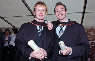 Provision 251006 Emmet Galvin from Tipperary and Des Butler from Limerick both graduated with a BA (Hons) in Legal Studies with Business from WIT on Wednesday 25th October. PIC Bernie Keating/Provision