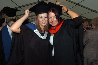 Provision 251006 Noelle Leahy (Tipperary) graduated with a BA in Legal Studies in International Trade and Orla Fogarty (Laois) graduated with a HC in Legal Studies from WIT yesterday (Weds). PIC Bernie Keating/Provision