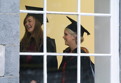 6/1/2012. News. Free to use image. Waterford Institute of Technology (WIT) conferring ceremony. Pictured are Katie Dunphy, Cork and Emma Flynn Waterford who graduated with a Bachelor of Arts (Honours). Photo Patrick Browne