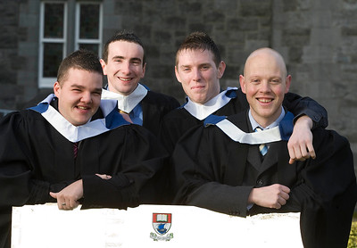 5/1/2012. News. Free to use image. Waterford Institute of Technology (WIT) conferring. Pictured are Matt Purcell, Thurles, Co Tipperary, Gavin Bolger, Waterford, Paul Drohan, Waterford, Peter Crowley, Waterford who graduated with a Bachelor of Engineering in Manufacturing Engineering. Photo Patrick Browne
