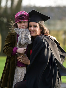 5/1/2012. News. Free to use image. Waterford Institute of Technology (WIT) conferring ceremony. Pictured is Susan Fagan, Drogheda who graduated with a Bachelor of Architecture (Honours), aloso pictured is her daughter Chloe. Photo Patrick Browne