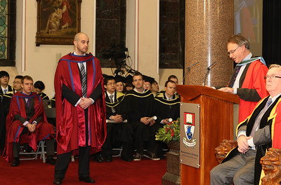 Pictured are Raymond Carroll, Kilkenny who was conferred a Doctor of Philosophy. Photo Patrick Browne