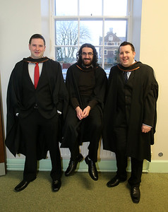 Pictured are Chris Noonan, Cork, Omer Sunguroglu, Wexford and Shane Mulcathy, Tramore, Co Waterford who graduated Bachelor of Science (Honours) in Multimedia . Picture: Patrick Browne