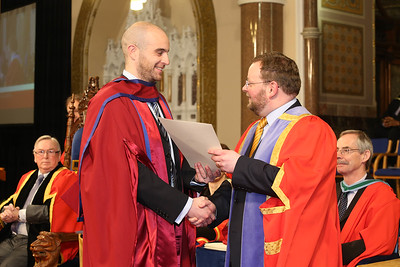 Pictured are Raymond Carroll, Kilkenny who was conferred a Doctor of Philosophy from Dr. Derek O'Byrne, Registrar of Waterford Institute of Technology (WIT). Picture: Patrick Browne.