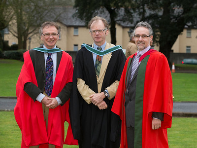 Pictured is Dr. Willie Donnelly, Head of Research and Innovation at WIT, Eamonn de Leaster, WIT Lecturer and Dr. Michéal Ó Foghlú, WIT Lecturer . Picture: Patrick Browne.
