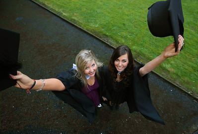 Pictured are Louise McNulty, Waterford and Amy Webster, Tipperary who graduated Bachelor of Science in Multimedia . Picture: Patrick Browne