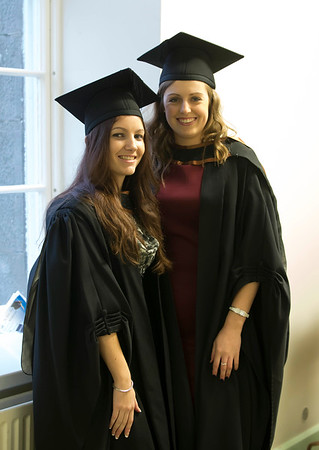 Pictured are Laura Hogan, Waterford and Nicola O'Meara, Tramore, Co. Waterford who graduated Bachelor of Arts (Hons) in Early Childhood Studies. Picture: Patrick Browne.
