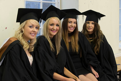 Pictured are Billie White, Tipperary, Amee Walsh, Meath, Kerrie Smith, Waterford and Theresa Sheehy, Kerry,  who graduated Bachelor of Arts (Hons). Picture: Patrick Browne.