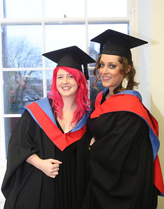 Waterford Institute Of Technology Conferring. Pictured at WIT Waterford Institute Of Technology Conferring are Denise Hanlon, waterford and Meghan Wall-Grant from Waterford who graduated Higher Cert in Business in Tourism. Picture: Patrick Browne