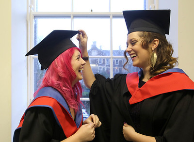 06/01/2014. FREE TO USE IMAGE. Waterford Institute Of Technology Conferring. Pictured at WIT Waterford Institute Of Technology Conferring are Denise Hanlon, waterford and Meghan Wall-Grant from Waterford who graduated Higher Cert in Business in Tourism. Picture: Patrick Browne