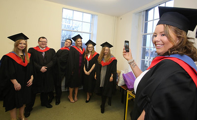 Waterford Institute Of Technology Conferring. Pictured at WIT Waterford Institute Of Technology Conferring are Yvonne Hurley, Waterford, Mark Rossitter, Kilkenny, Eoin Finn, Nenagh, Co. Tipperary, Niall Coleman, Lismore, Co. Waterford, Emma Galvin, Kilmacthomas, Co. Waterford, Eimear Brazil, Waterford and Ciara Horan, Roscommon who graduated Higher Cert in Arts in Culinary Arts. Picture: Patrick Browne