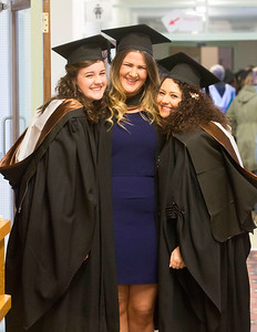 Waterford Institute Of Technology Conferring. Pictured at WIT Waterford Institute Of Technology Conferring is Orla Hogan, Waterford, Christina Kinneally, Tipperary, Natalie Mockler, Tipperary who graduated Bachelor of Science (Honours) in Nursing. Picture: Patrick Browne