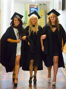 Waterford Institute Of Technology Conferring. Pictured at WIT Waterford Institute Of Technology Conferring are Roisin Byrnes, Cork, Nicola Grace, Kilkenny and Rachel Doyle, Wexford  who graduated Bachelor of Science (hons) in Psychiatric Nursing. Picture: Patrick Browne