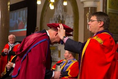 Waterford Institute Of Technology Conferring. Pictured at WIT Waterford Institute Of Technology Conferring is Phil Brennan, Waterford, who was conferred a Doctor of Philosophy by Dr. Ruaidhrí Neavyn, President WIT. Picture: Patrick Browne