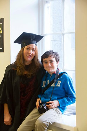 Waterford Institute Of Technology Conferring. Pictured at WIT Waterford Institute Of Technology Conferring is Susan Rowe, Waterford who graduated Bachelor of Arts (Honours) in Criminal Justice Studies. Also pictured is Dylan Rowe. Picture: Patrick Browne