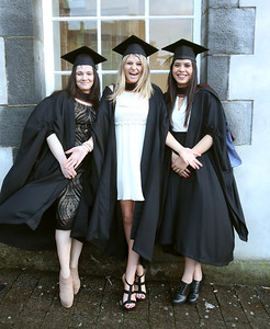 Waterford Institute Of Technology Conferring. Pictured at WIT Waterford Institute Of Technology Conferring are Karen Walsh, Tipperary, Grace Clarke, Kildare and Gabriela Rafter from Tipperary who graduated Bachelor of Arts (Honours). Picture: Patrick Browne
