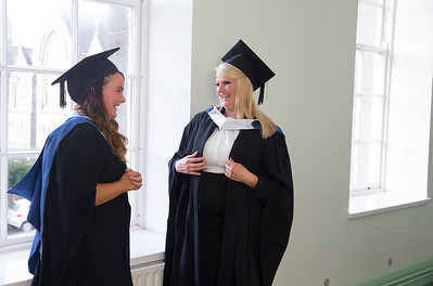 28/10/2015. Waterford Institute of Technology Conferring. Pictured are Karen Biggane, Limerick and Nicola Hitchinson from Waterford who graduated Bachelor of Arts in Legal Studies. Picture: Patrick Browne