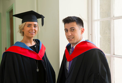 28/10/2015. Waterford Institute of Technology Conferring. Pictured are Clara Hayden, Carlow and Liam Cleary, Kildare. Picture: Patrick Browne