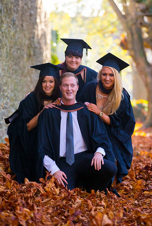 02/11/2016. Waterford Institute of Technology (WIT) Conferring Ceremonies November 2016:  Pictured are Jonathan Mates from Waterford,  Martha Swic, New Ross, Co. Wexford, Donna Kelly, Enniscorthy Co. Wexford and Niamh Hennessey, Waterford  who Graduated Bachelor of Laws (Hons). Picture: Patrick Browne    Graduates of 2016 are well prepared for an exciting work environment with new industries, having completed their studies in an intellectually open, creative and innovative educational community thanks to the multicultural community at WIT. Just over 2,400 students will be conferred with academic degrees up to doctorate level in 11 conferring ceremonies across three days, from Wednesday, 2 November, 2016.