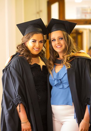 1/11/2017 Waterford Institute of Technology conferring ceremony. Graduating with a Batchelor of Arts (Honours) in Applied Social Studies in Social Care. From left; Leanne Sealy Waterford and Katie Roche Waterford.Photo;Mary Browne