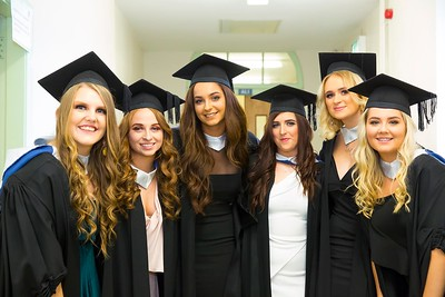 1/11/2017 Waterford Institute of Technology conferring ceremony. Batchelor of Arts in Applied Social Studies in Social Care. From left; Elma Farrell Waterford, Megan Cogan Kilkenny, Christine Comerford Kilkenny, Jessie Dooley Kilkenny, Amy Grace Waterford and Isabel Gough Wicklow.Photo;Mary Browne