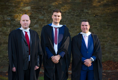 02/11/2017. Waterford Institute of Technology Conferring are Shane Fogarty, Carrick On Suir, Leon Daynes, Waterford and Chris Bailey, New Ross, Co Wexford who graduated Bachelor in Business. Picture: Patrick Browne