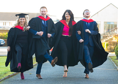 02/11/2017. FREE TO USE IMAGE. WIT (Waterford Institute of Technology) Conferring, Waterford City are Jane Barnes Waterford, Sean Barrett Waterford, Jamie Whitty New Ross, Co. Wexford, Aidan Walsh Waterford and Clare Shanahan Waterford  who graduated in Business. Picture: Patrick Browne