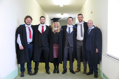 03/11/2017. Waterford Institute of Technology Conferring are Jaromir Halamicek, Clonmel, John Roche, Ferrybank, Kamila Piszcz, New Ross, Gary Walsh Piltown / Cork, Patrick Doyle Enniscorthy and Francis Conway Thomastown. Picture: Patrick Browne.