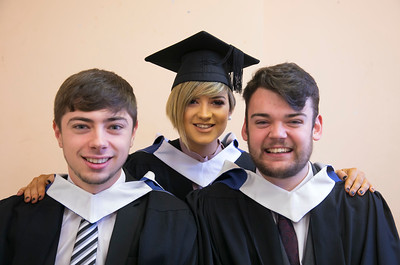 03/11/2017. Waterford Institute of Technology Conferring are Nigel Curran, Kilmacow, Aisling McGrath, Clonmel and Ross Breathnach, Carrick on Suir. Picture: Patrick Browne.