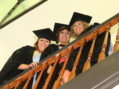 Pictured are Claire McCarthy, Cork, Danielle Keohan, Waterford and Sarah Toomey, Tipperary graduated in B.Sc. Honors Intellectual Disability Nursing. Picture: Patrick Browne