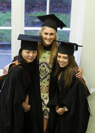 Pictured are Yun Zhang, China, Michelle Holland, Kilkenny and Nicola Hennebry, Waterford who graduated Bachelor of Science Honours in General Nursing. Picture: Patrick Browne