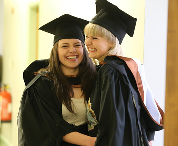 Pictured are Anna Wojciak and Julia Shelkanova Waterford who graduated in Bachelor of Arts Honours in Design. Picture: Patrick Browne