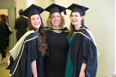 06/01/2015. FREE TO USE IMAGE. WIT (Waterford Institute of Technology) Conferring, Pictured are Heather Haskins, Los Angels USA, Denise Kienzle, Waterford, Joanne Tuohy, Kerry who graduated Master of Arts in Arts and Heritage Management. Picture: Patrick Browne