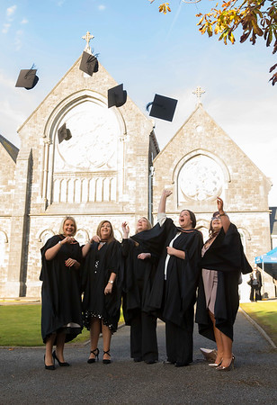 02/11/2016. Waterford Institute of Technology (WIT) Conferring Ceremonies November 2016:  Pictured are Jackie Kehoe, Wexford, Georgina Roche, Clonea Waterford, Sharon O'Leary, Waterford, Joseline O'Shea Cork and Roisin O'Donoghue, Carlow who graduated B.A. (Hons) Applied Social Studies in Social Care. Picture: Patrick Browne