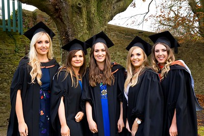 1/11/2017 Waterford Institute of Technology conferring ceremony. Batchelor of Arts (Honours) in Applied Social Studies in Social Care. From left; Sarah Morrissey Tipperary, Laura Hynes Tipperary, Jenifer Mooney Kilkenny, Louise Stokes Oola Co.Limerick and Denise O'Donnell Tipperary . Photo;Mary Browne