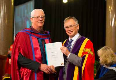01/11/2017. Waterford Institute of Technology Conferring. Pictured is Noel Keating from Carlow who was conferred a PhD, also pictured is Prof. Willie Donnelly, President of WIT.  Picture: Patrick Browne