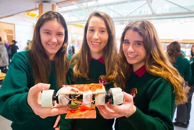 Pictured at WIT (Waterford Institute of Technology) at Engineers Week are Mayra Escolano, Rocio Nieto-Marquez and Ainhoa Ortega from St. Pauls Community College, Waterford City. Picture: Patrick Browne