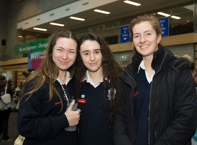 8/3/2018 Image Free to Use Waterford Institute of Technology celebrate international women's day. Be brave in the choices you make – secondary school students hear on International Women's Day  From left; Lana White, Sophie Lee and Charlie Byrne from Abbey Community College Ferrybank.Photo;Mary Browne