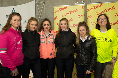 8/3/2018 Image Free to Use Waterford Institute of Technology celebrate international women's day. Be brave in the choices you make – secondary school students hear on International Women's Day.  From left; Louise Flemming, Anna O'Brien, Anna Malone, Danielle O'Brien and Shannon Dwyer from Abbey College Ferrybank Waterford and Dara O'Leary Distilled  SCH.Photo;Mary Browne