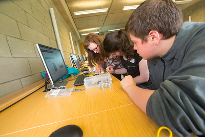 "FREE TO USE IMAGE. WIT Summer Camp. Pictured at WIT Waterford Institute of Technology at the ""Internet of Things"" workshop is Aileen Drohan of SEMS The South East Makerspace and Khaled Iza from Tramore and Jane Myres from Waterford. Picture: Patrick Browne   Students who will be sitting the Leaving Cert in June 2017 get to grips with the Internet of Things at Waterford Institute of Technology's HEA-funded summer camp for 5th year students which ran over four days from Tuesday, 7 June to Friday, 10 June. The range of disciplines students got to try out include: 3D Animation, Build a computer workshop, Coding, Internet of Things, Audio and Video Development, Web Development, Games Development and Virtual Reality.  Last year WIT added an Internet of Things 4-year Level 8 course to its suite of undergraduate Computing courses. See www.wit.ie/cao."