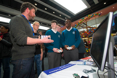 20/01/2017.  Waterford Institute of Technology (WIT) open day at WIT Arena. Pictured are Rob O'Connor of WIT, Dan Glesec and Michael Awe from Ardscoil Na Mara, Tramore. Picture: Patrick Browne  With the traditional CAO deadline of 1 February fast approaching Waterford Institute of Technology (WIT) ran two open days at the €20m WIT Arena on its West Campus which opened in recent months. The Schools' Open Day on Friday, 20 January attracted secondary students and teachers from across the country. The #StudyatWIT Open Day on Saturday, 21 January was designed to give information for all prospective students and their families with information available on student supports from part-time and postgraduate courses to the institute's 70 CAO courses. Find out more at cao.wit.ie.